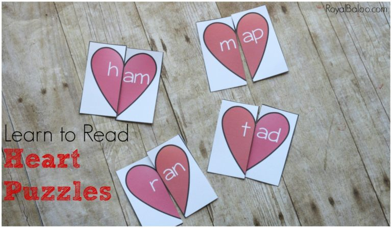 These adorable Heart Puzzles are a fun way to practice sight words around Valentine's Day. :: www.thriftyhomeschoolers.com