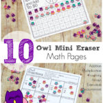 Free Mini Owl Eraser Math Pages