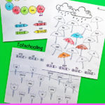 Free Spring Sight Word Coloring Pages