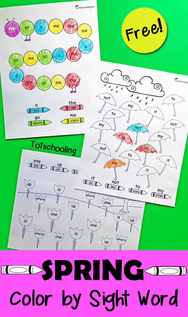 Word Spring 2017: Free Spring Sight Word Coloring Pages