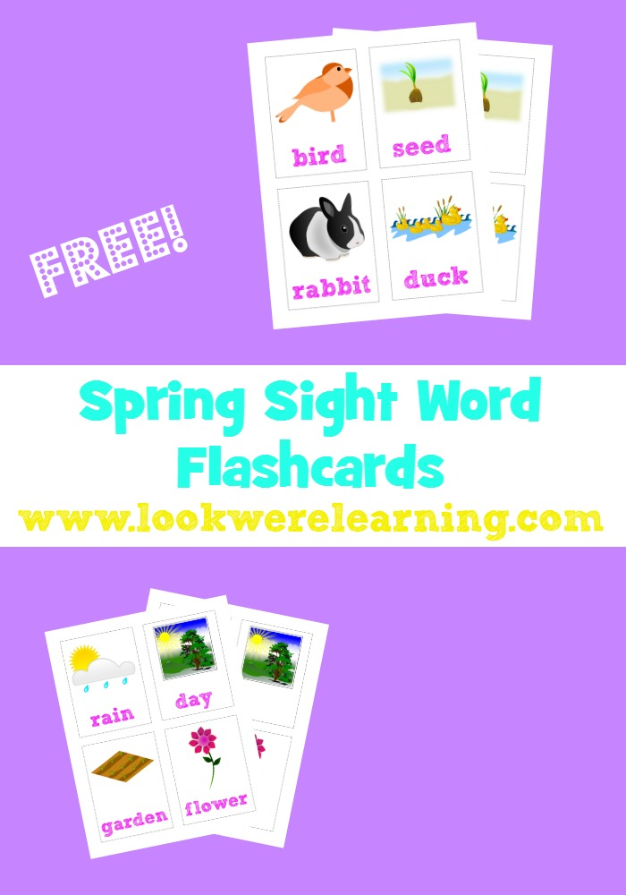 Word Spring 2017: Free Sight Word Flash Cards For Spring