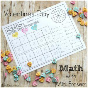 Valentine's Day Mini Eraser Math Pack