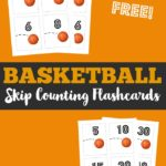 Free Basketball Themed Counting Flashcards