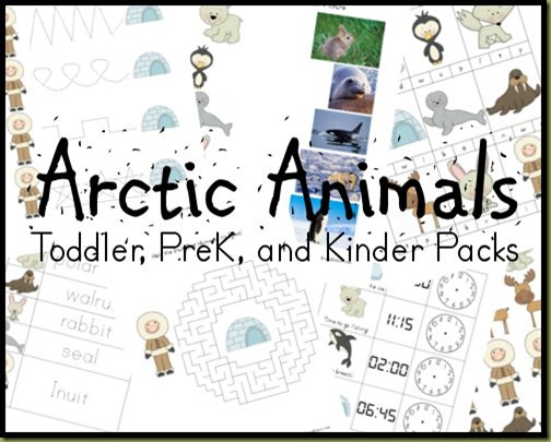 This fun Arctic Animals pack includes mazes, handwriting practice, math and so much more! :: www.thriftyhomeschoolers.com