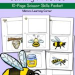 FREE Bee-themed Scissor Skills Printables