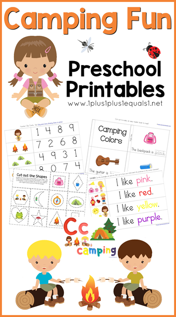 photo regarding Free Printable Camping Signs named Tenting Printables for Preschoolers - Thrifty Homeschoolers