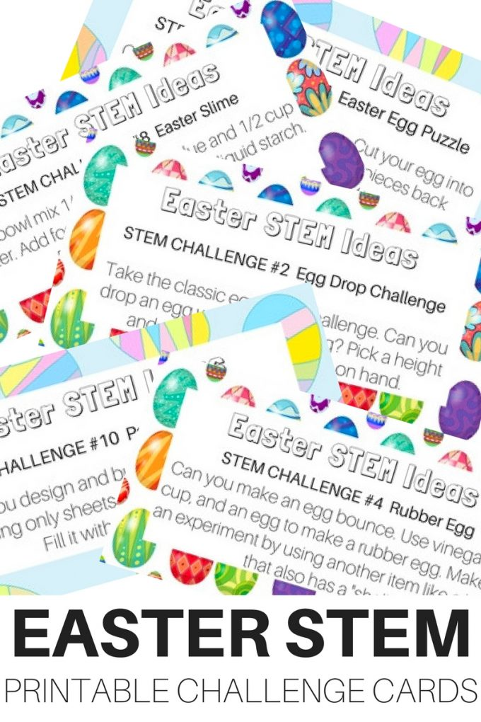 If you love STEM activities, these Easter themed STEM Challenge Cards are perfect for this time of year! :: www.thriftyhomeschoolers.com