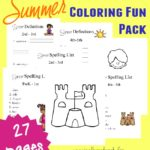 Free Summer Spelling Pack