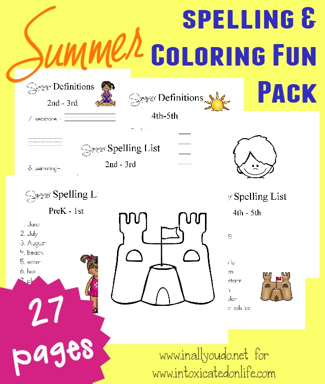 Let kids practice some fun summer themed spelling words with these free printables! :: www.thriftyhomeschoolers.com