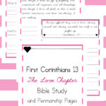 I Corinthians 13 Copywork printables