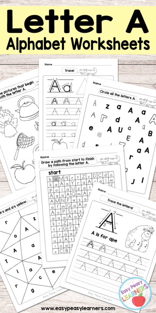 These Letter A worksheets are perfect for little ones learning their letters for the first time or those needing a review. :: www.thriftyhomeschoolers.com