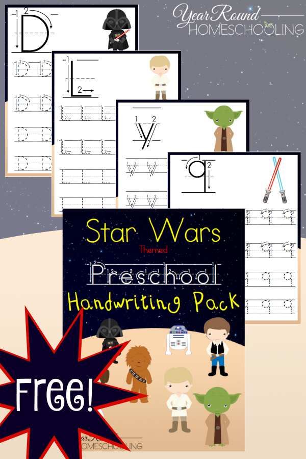"""Practice writing letters and """"the Force"""" at the same time!!! :: www.thriftyhomeschoolers.com"""