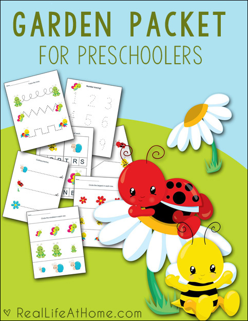 From Scissor Skills to Number Tracing, these Gardening Theme printables are perfect and FREE from Real Life At Home. :: www.thriftyhomeschoolers.com