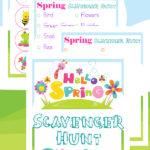 Spring Scavenger Hunt Printables
