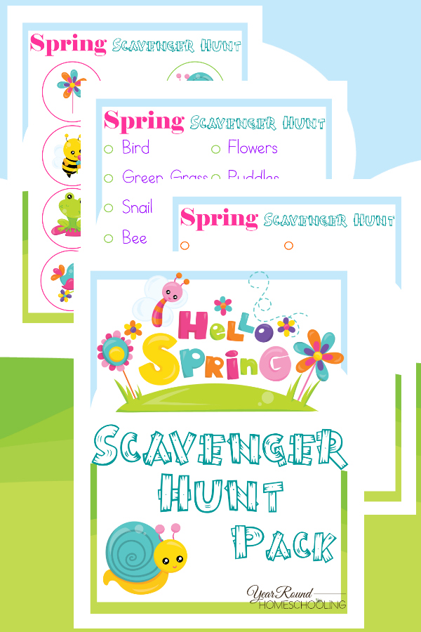 Get little ones outdoors with these fun Spring themed Scavenger Hunt printables! :: www.thriftyhomeschoolers.com