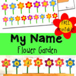 Flower Garden Name Recognition Printables