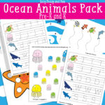 Free Ocean Animals Printable Pack