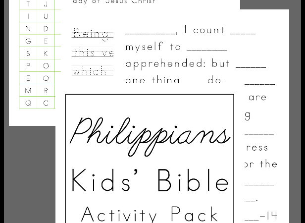 Free Bible Activity Pack for Kids: Philippians