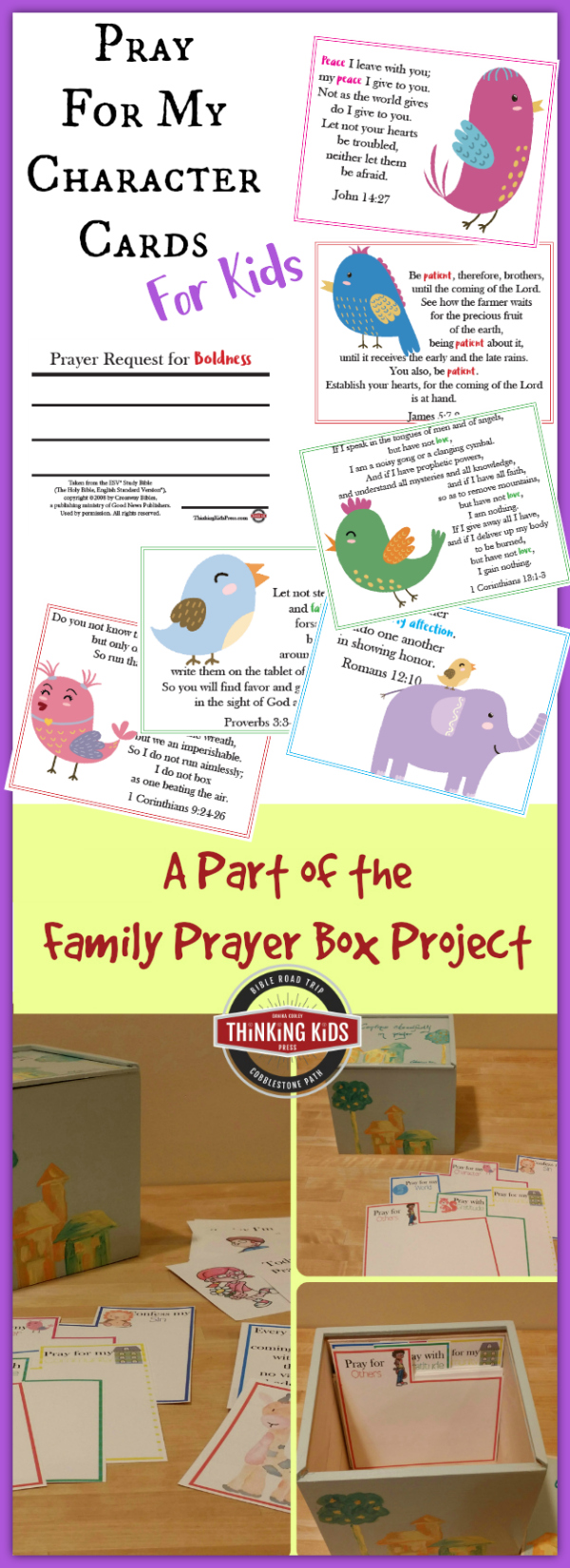 Character Prayer Cards for Kids