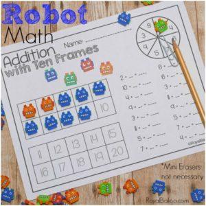 Robot Themed Math Printables