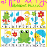 Spring Themed Alphabet Puzzles
