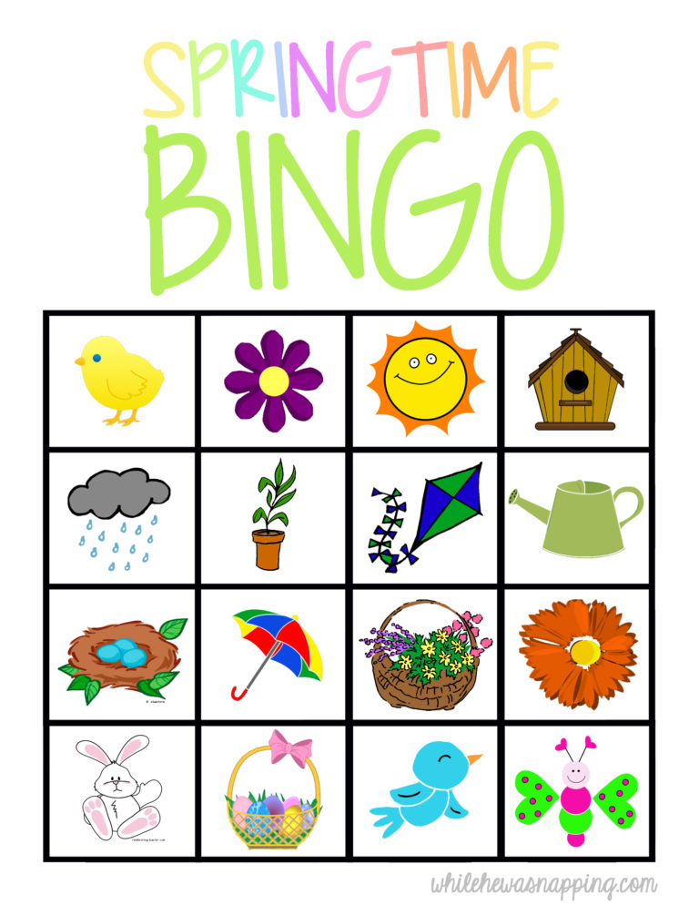 Spring is in the air and this fun set of brightly colored Springtime BINGO card printables are perfect for sunny and rainy days to come. :: www.thriftyhomeschoolers.com