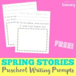 Preschool Writing Prompt Printables