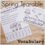 Spring Vocabulary Tear-Offs