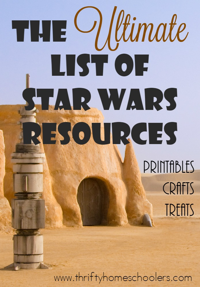If you love Star Wars as much as we do, these resources will be perfect for any day, especially Star Wars Day. Browse hundreds of printables, crafts and recipes to for the ultimate celebration on May 4th. :: www.thriftyhomeschoolers.com