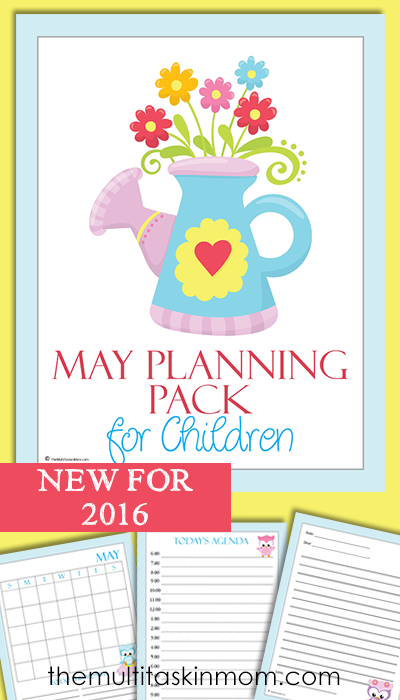 Help your kids work on their time management skills and planning ahead with this May Planning Pack for kids! :: www.thriftyhomeschoolers.com