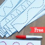 FREE Prewriting Line Tracing Printable