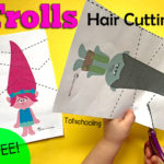 Cutting practice with Troll printables