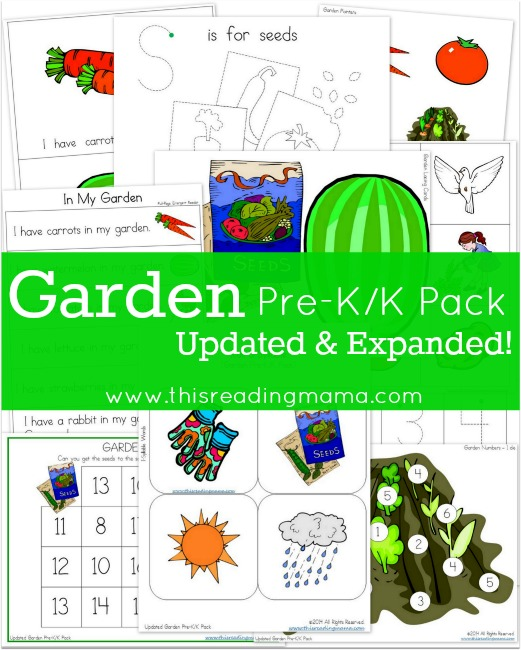 Don't miss this FREE Gardening PreK/K Pack that includes, an emergent reader, phonics, rhyming, syllables, fine motors, and basic math. :: www.thriftyhomeschoolers.com