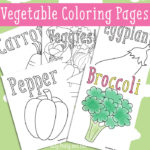FREE Vegetable Coloring Printables