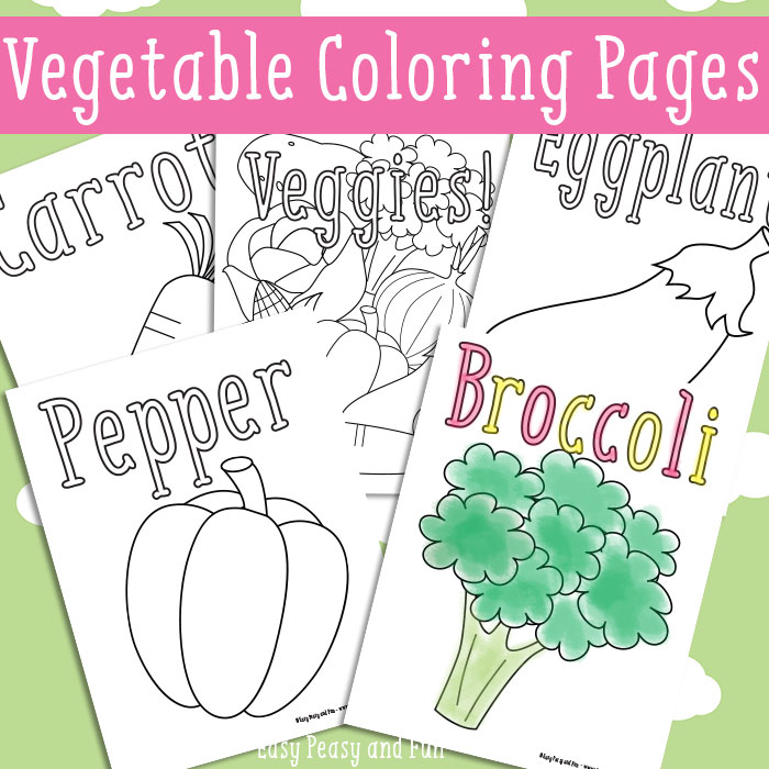 vegetable coloring printables