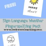 FREE Sign Language Weather Fingerspelling Pack