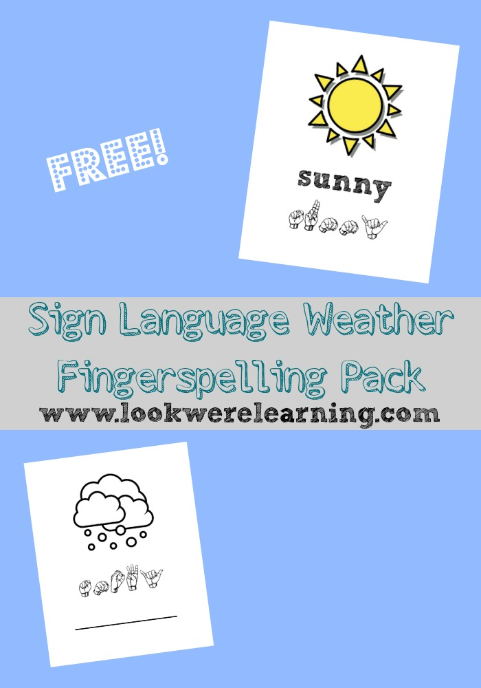 Do want your children to know sign language? Then try using these FREE fingerspelling coloring pages all about the weather from Look We're Learning. :: www.thriftyhomeschoolers.com