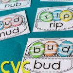 Free CVC Word Basket Printables for Easter
