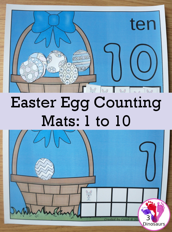 Help little ones work on their counting skills as well as fine motor activity with these Easter Egg Counting Mats. :: www.thriftyhomeschoolers.com