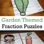 Free Garden Fraction Puzzles