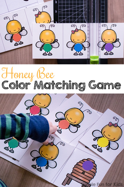 free color matching honey bee game. Black Bedroom Furniture Sets. Home Design Ideas