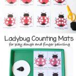 FREE Ladybug Playdough Counting Mats