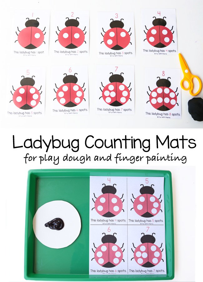 these free Playdough Counting Mats from Fun With Mama, are perfect for developing fine motor skills. :: www.thriftyhomeschoolers.com