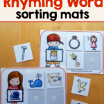 Rhyming Words Sorting Mats