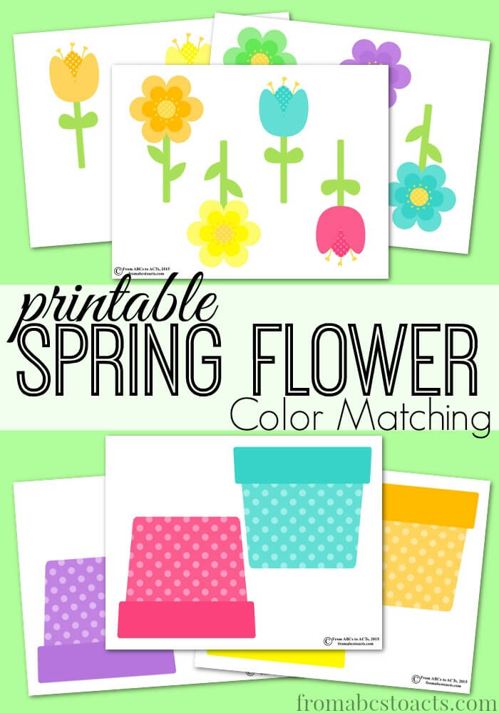 Help little ones with their colors and matching skills with this bright Spring Flower Color Matching printable set. :: www.thriftyhomeschoolers.com