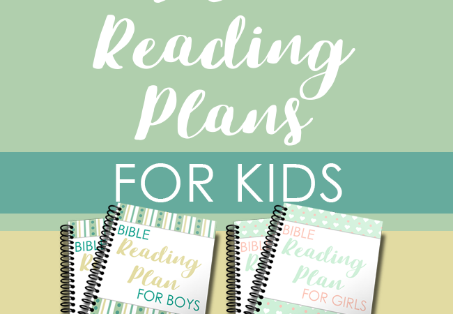 Free Kids Bible Reading Plans