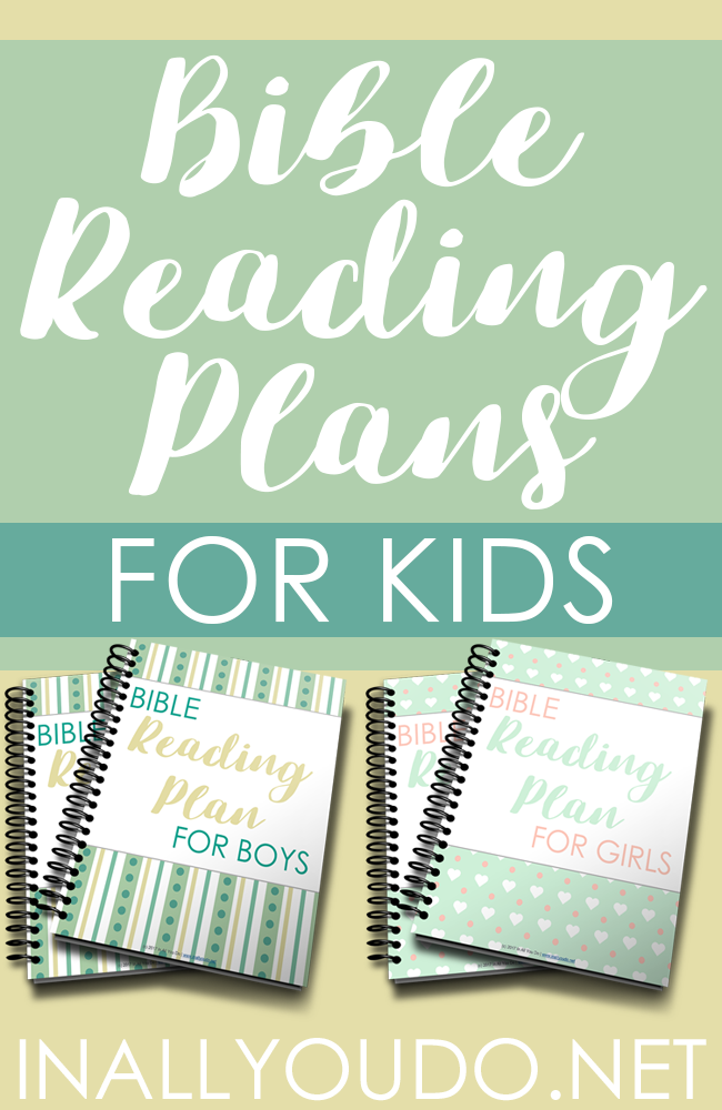 Help kids get in God's Word daily with these Boys & Girls Reading plans. Includes monthly reading plans for Proverbs as well as Old & New Testament and journaling pages. :: www.thriftyhomeschoolers.com