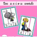 CVC Word Puzzle Freebies