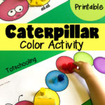 Free Color Sorting Caterpillar Mats for Toddlers
