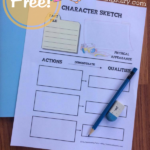 Free Character Sketch Notebooking Pages